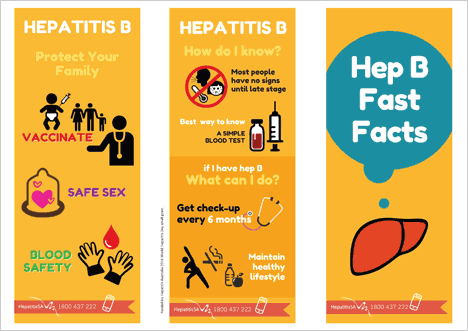 Hep B Fast Facts brochure cover