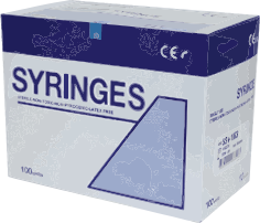 box of syringes