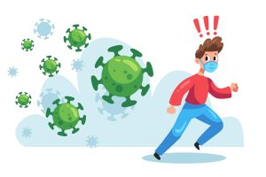 Man fleeing coronavirus